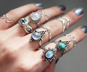 rings, jewelry, and nails image