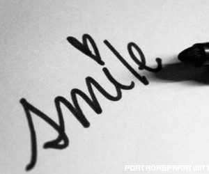 smile, quote, and heart image