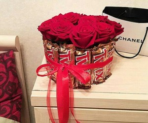gift, roses, and suprise image
