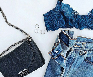 jeans, bag, and style image
