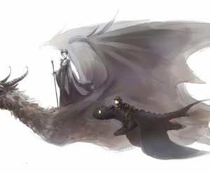 toothless, hiccup, and maleficent image