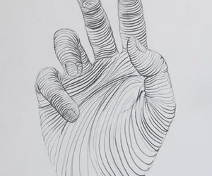 drawing, hand, and art image