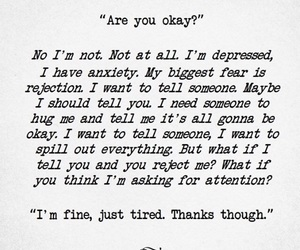 anxiety, depressed, and fear image