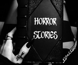 horror, black, and goth image
