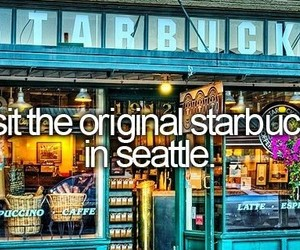 starbucks, seattle, and coffee image