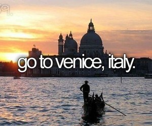 italy, venice, and bucket list image