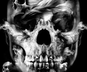 skull, art, and fantasy image