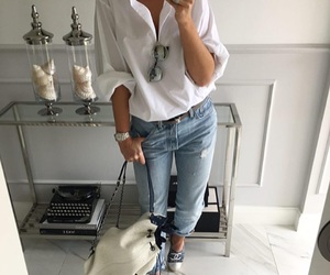 fashion, jeans, and beauty image