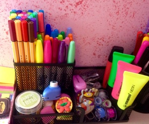 markers, school, and sharpies image