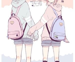 anime, pastel, and girls image