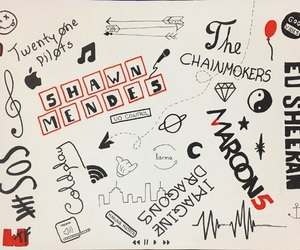 coldplay, doodles, and maroon 5 image