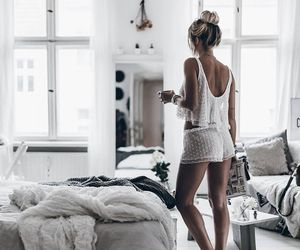 girl, fashion, and home image