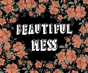 mess, beautiful, and flowers image