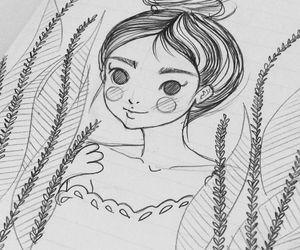 anime, boceto, and sketch image