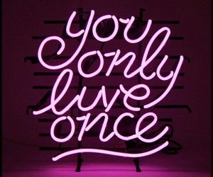life, neon, and pink image