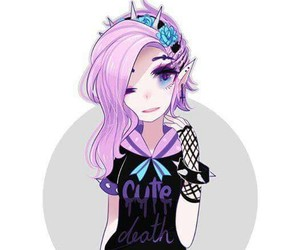 pastel goth and anime image