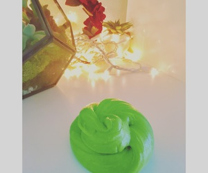 glitter, slime, and green image