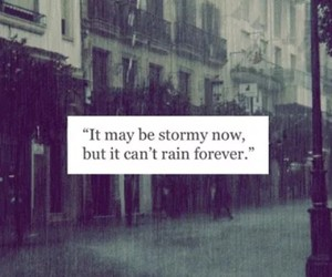 life, quote, and rain image