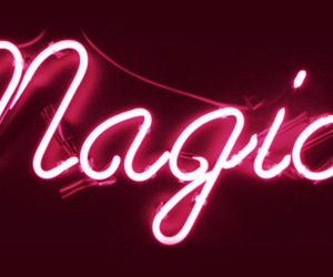 magic, neon, and light image