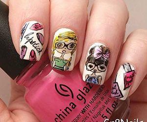 diy, nail art, and manicure image