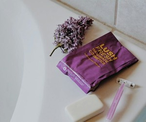 bath, cosmetics, and flowers image