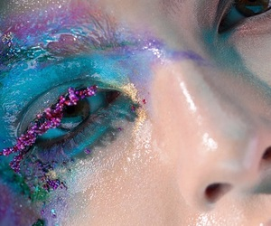 makeup, art, and eyes image