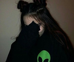 girl, grunge, and alien image