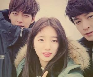 suzy, kim woo bin, and uncontrollably fond image