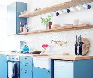 apartment, blue, and interior decor image