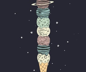 space, ice cream, and stars image