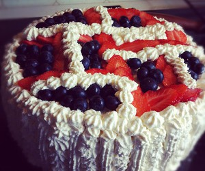 blue, cake, and good image