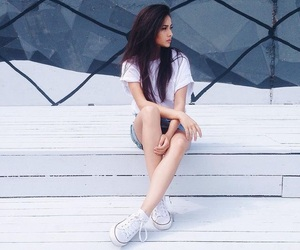 girl and white image