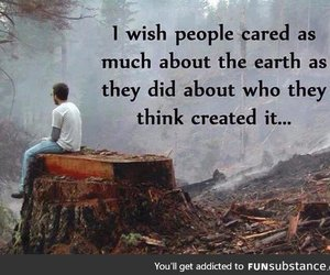 earth, quote, and care image