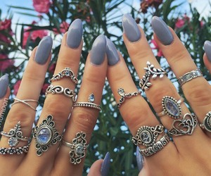 blue, grey, and hippie image