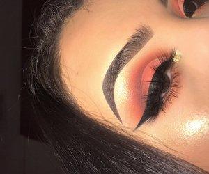 beauty, eyeliner, and eyesmakeup image