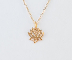 etsy, lotus flower, and gold filled image