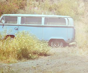 vintage and volkswagen van image