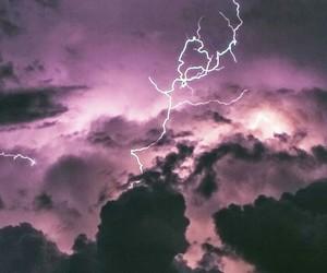 sky, lightning, and tumblr image