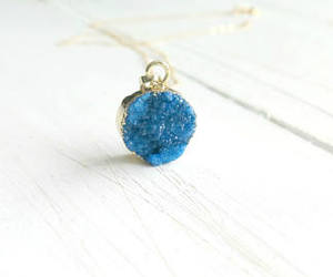 boho, druzy, and druzy necklace image