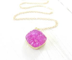 boho, jewelry, and hot pink image