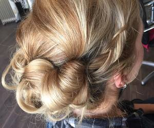 beautiful, hair, and updo image