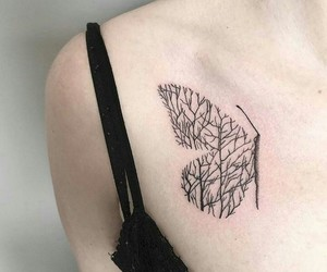 tattoo, butterfly, and alternative image