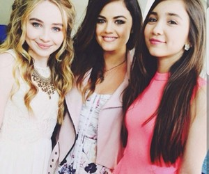 sabrina carpenter, lucy hale, and rowan blanchard image