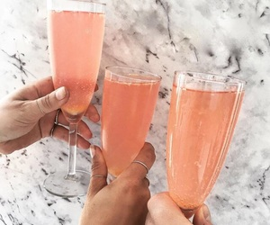 champagne, delicious, and drinks image