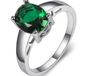 emerald, ring, and 925 image