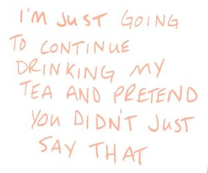 tea and text image