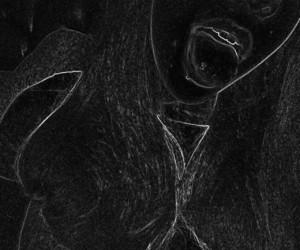 black and white, dark, and girly image