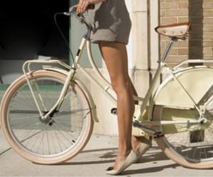 bicycle, city, and fashion image
