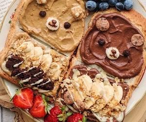 food, breakfast, and bear image