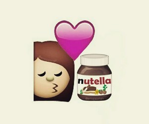 nutella, emoji, and love image